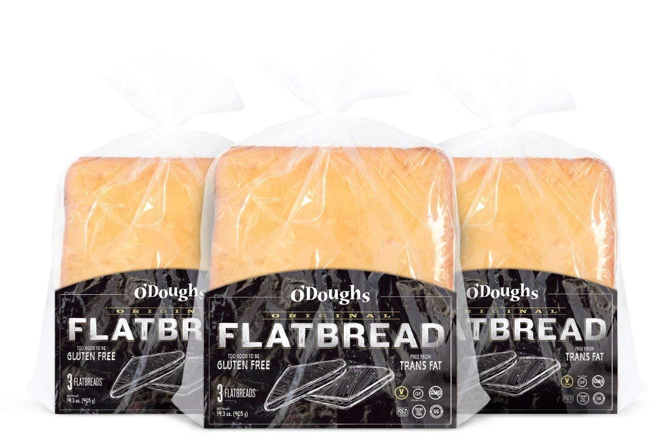 O'Dough Gluten Free Flatbreads, Original,14.4 Ounce [4 Packs] by O'Doughs