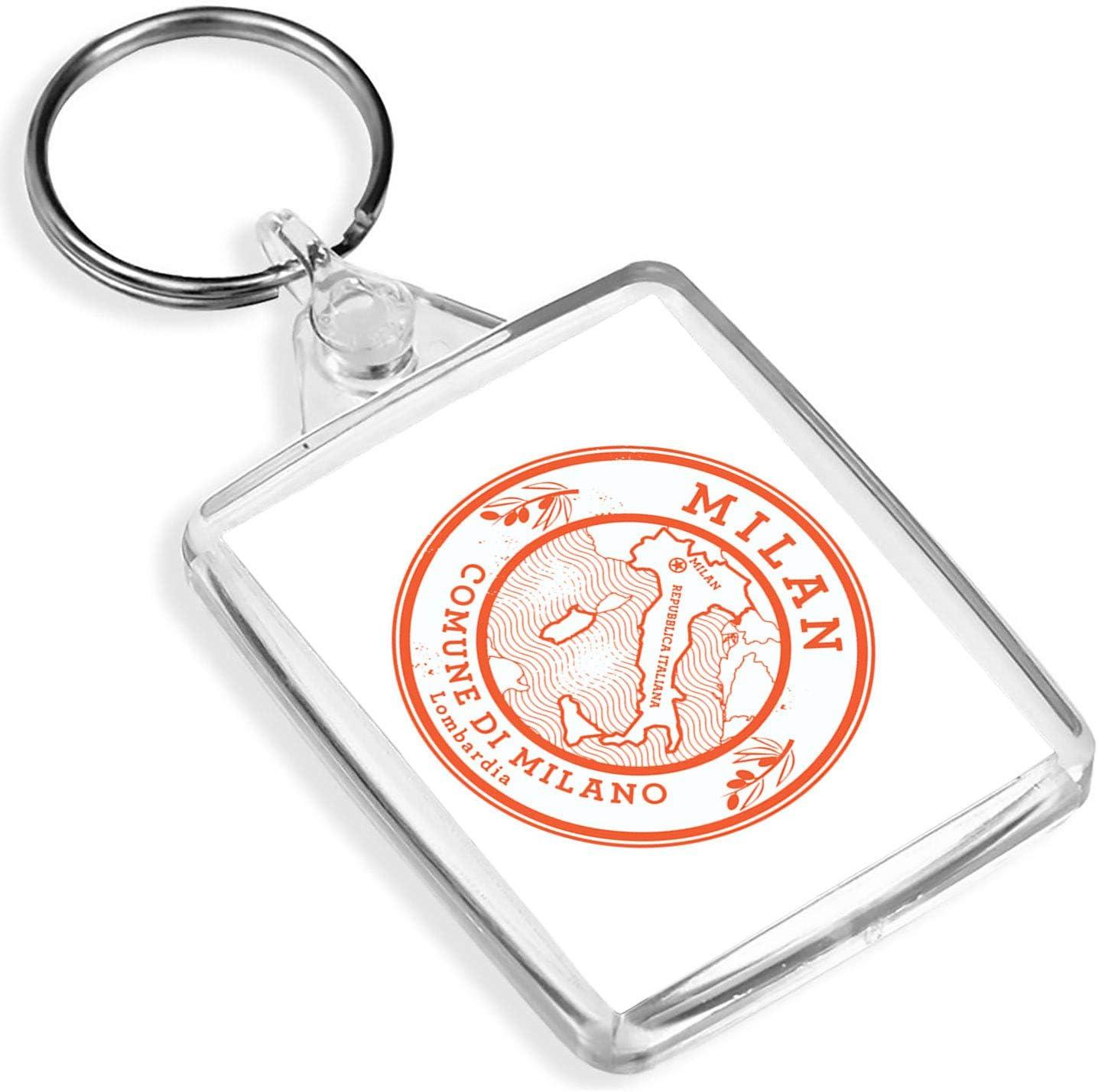 Milano Italy Keyring Travel Souvenir Keychain