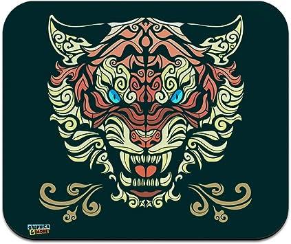 Fierce Snarling Tribal Tiger Oni Low