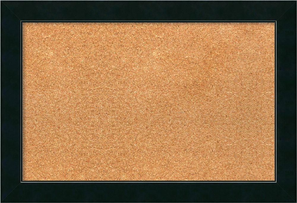 Framed Cork Board, Choose Your Custom Size, Corvino Black Wood: Outer Size 25 x 17''