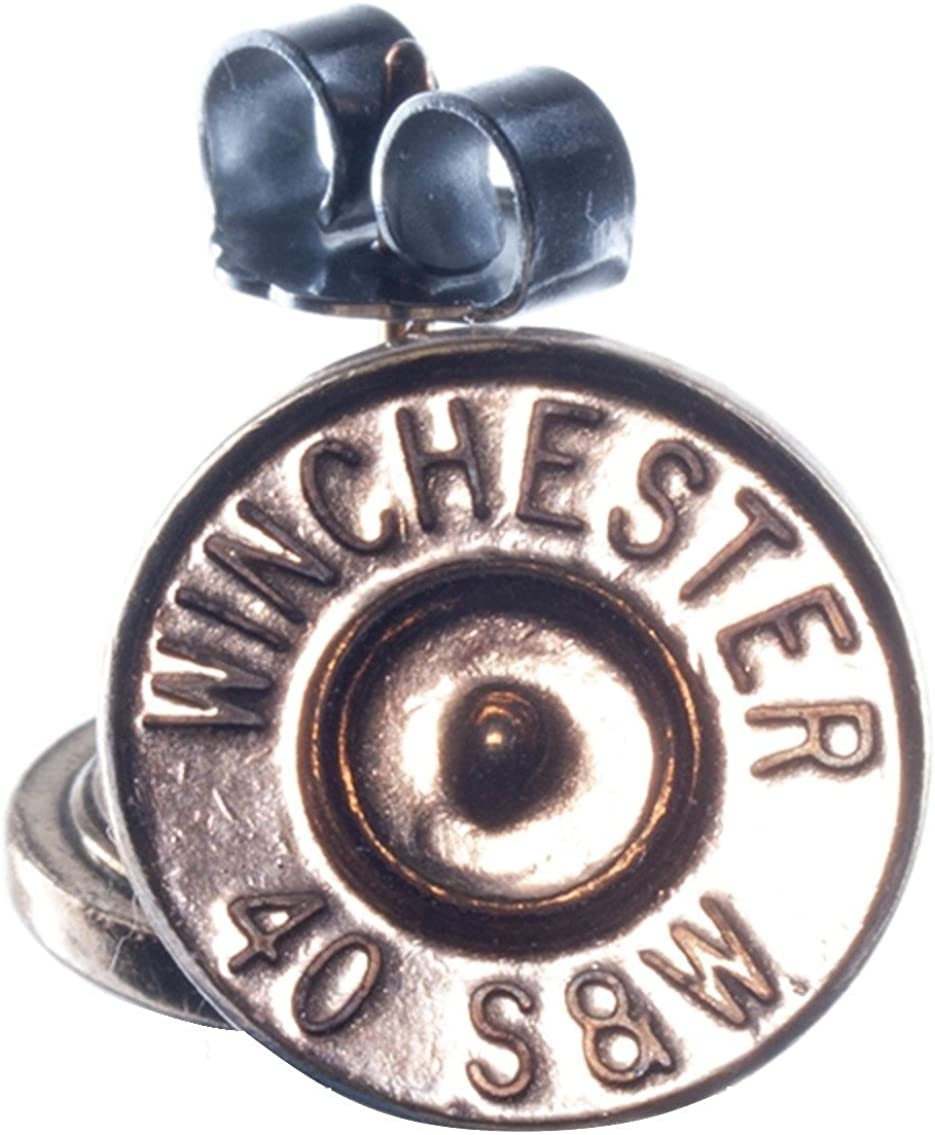 RARE out of production .40 S&W Gold Plated Bullet Stud Earrings- (Winchester)