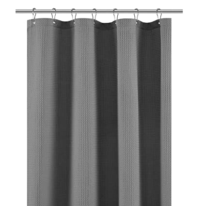 Amazon Com Stall Shower Curtain Fabric 36 X 72 Inch Waffle Weave