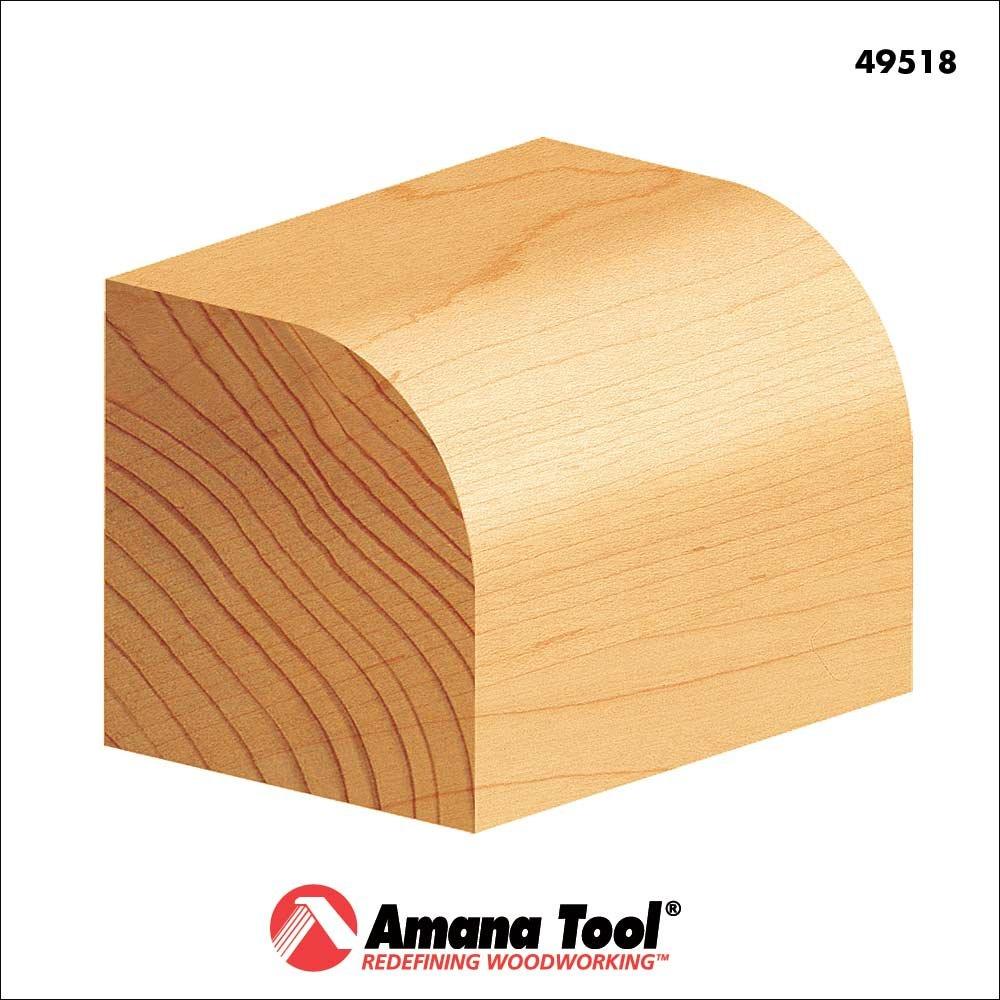 Amana Tool 49518 Carbide Tipped Corner Round 1//2 Radius x 1-1//2 Dia x 3//4 x 1//2 Sha