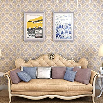 Buy Jaamso Royals Vinyl Damask Self Adhesive Peel And Stick Wallpaper Contact Paper 45 X 1000 Cm Multicolor Self Adhesive Wallpaper 9010 Jrw Online At Low Prices In India Amazon In