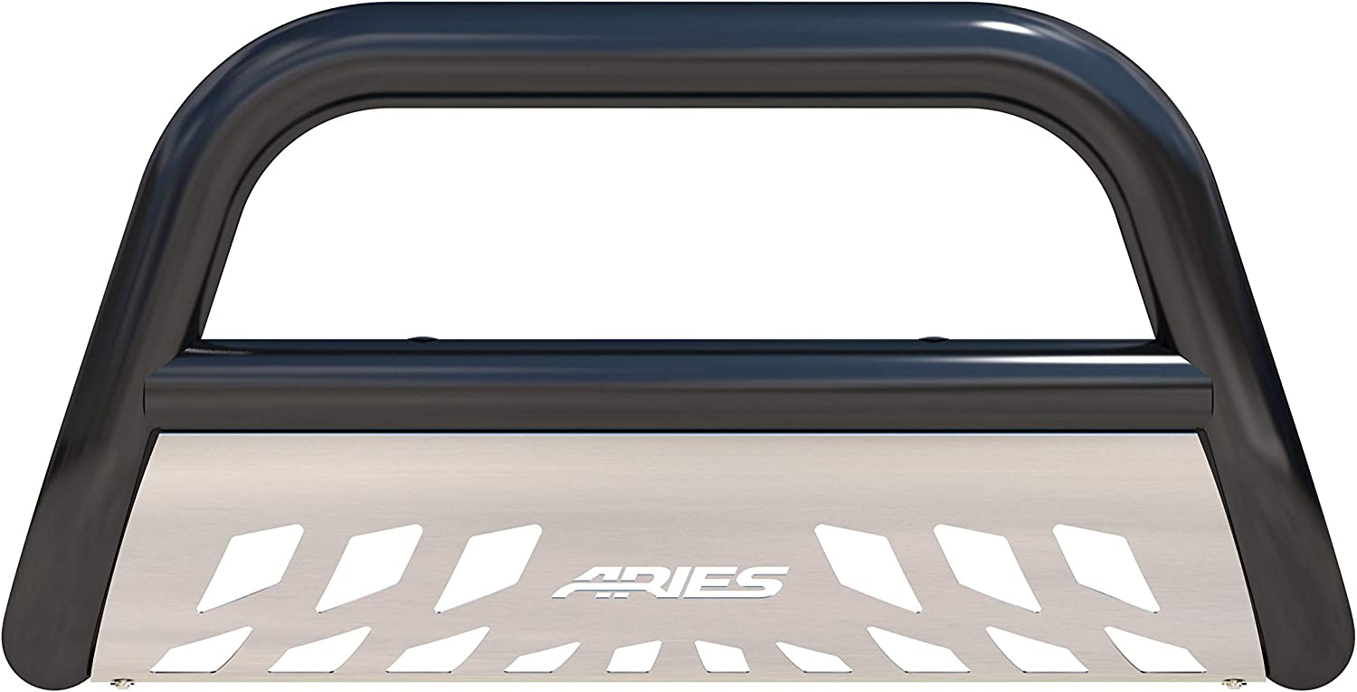 ARIES B35-2006 3-Inch Black Steel Bull Bar Select Toyota 4Runner