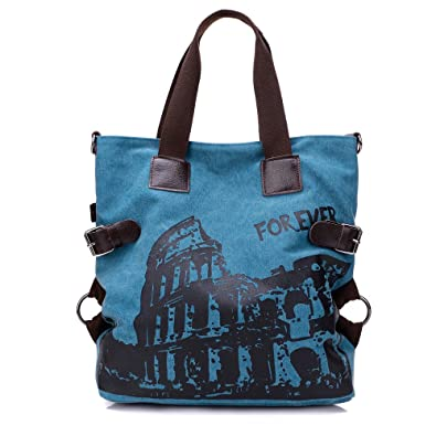 Color : Brown, Size : One Size Fine Bag//Canvas Tote Casual Retro Large Capacity Graffiti Shoulder Bag Womens Casual Bag Multi-Pocket Capacity