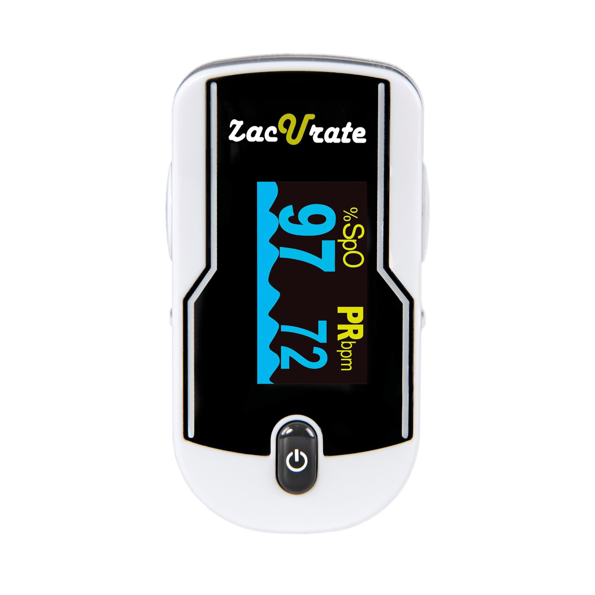 Zacurate 430-DL Premium Fingertip Pulse Oximeter Oximetry Blood Oxygen Saturation Monitor with silicon cover, batteries and lanyard