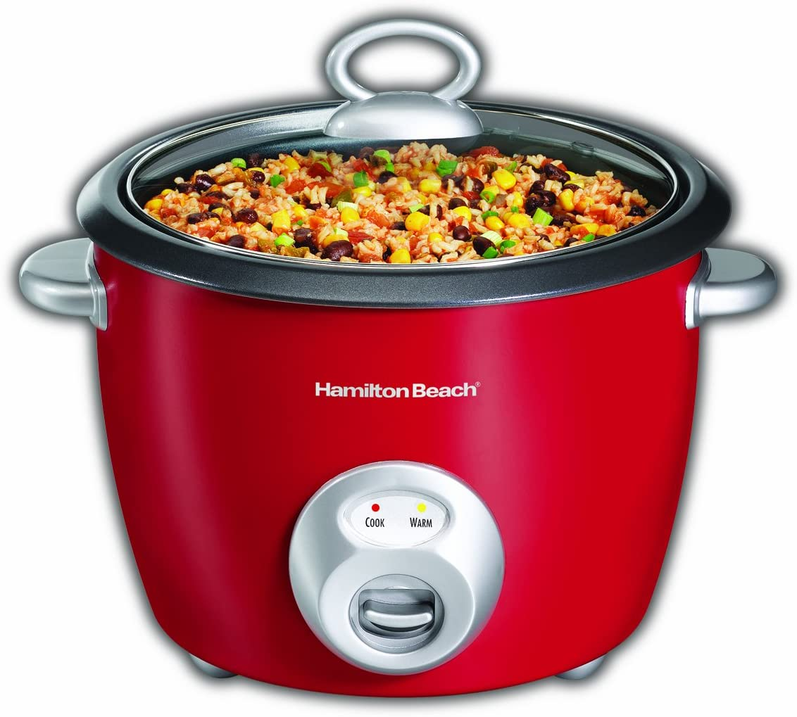 Hamilton-Beach 37528 20 Cup Rice Cooker Red