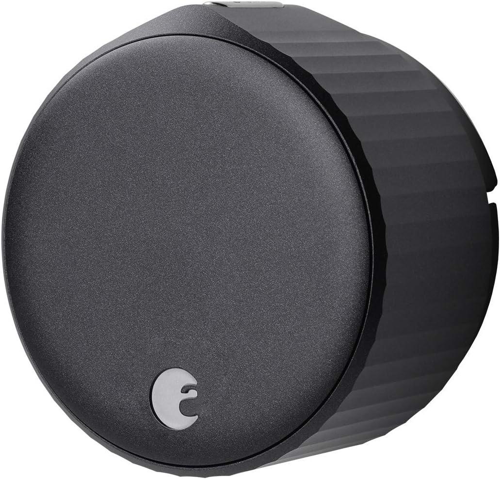 August Wi-Fi Smart Lock, 4th Generation (Matte Black)