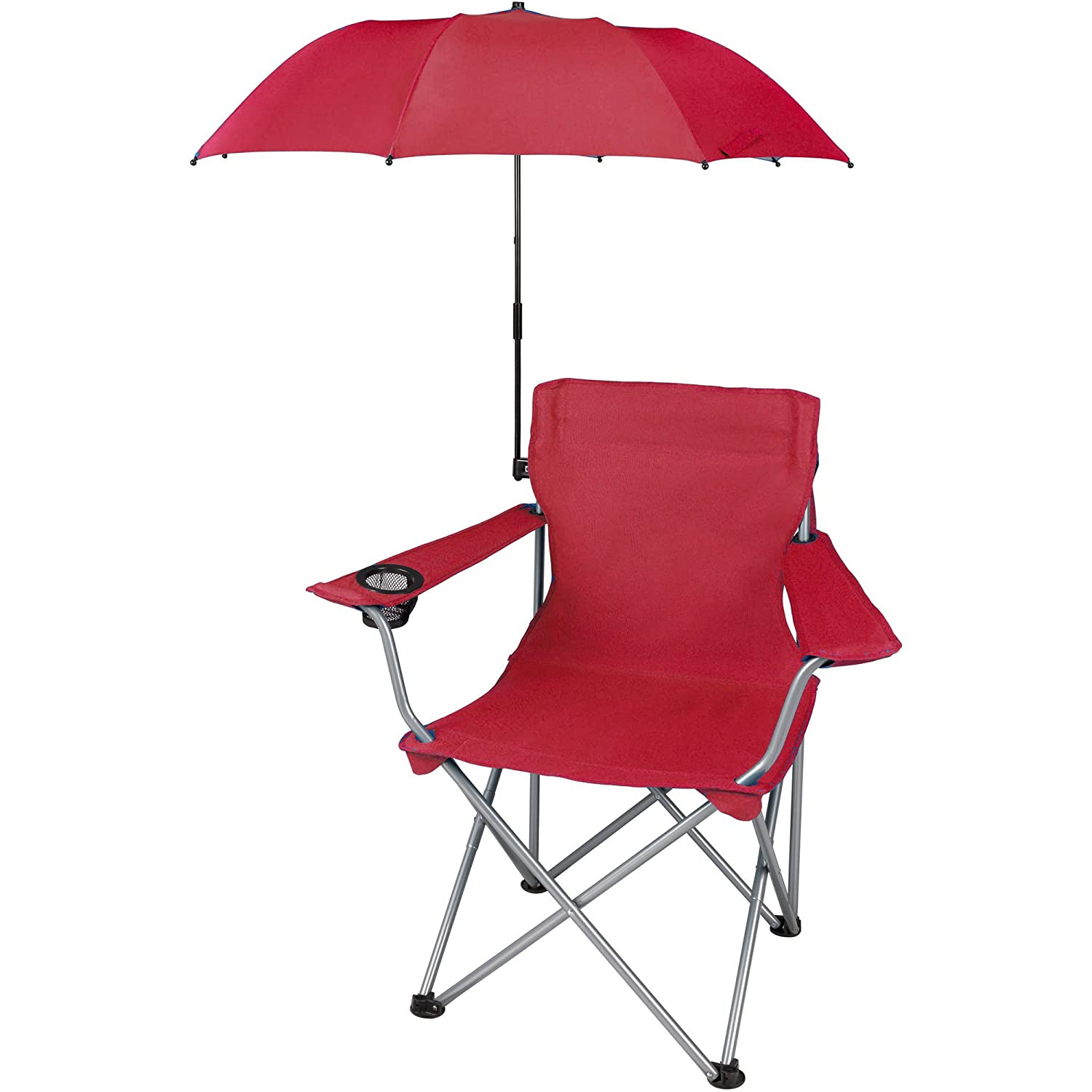 Amazon.com  Ozark Trail Attachable Umbrella for Outdoor Folding Chair Red - UMBRELLA ONLY  Sports u0026 Outdoors  sc 1 st  Amazon.com & Amazon.com : Ozark Trail Attachable Umbrella for Outdoor Folding ...