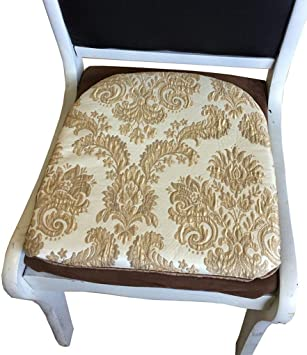 Amazon.com: Sideli Gold Chair Cushion Set of 2 Foam Kitchen ...
