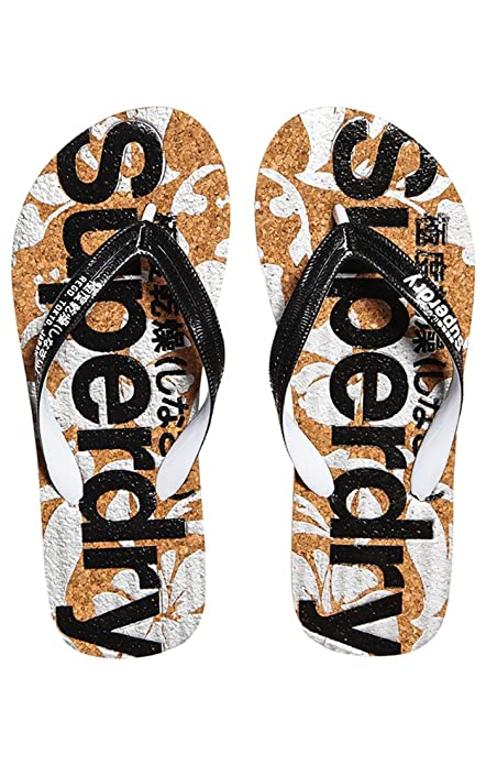 Superdry Printed Cork, Tongs Femme, Multicolore (Black Optic White J40), c49ac2545e6c