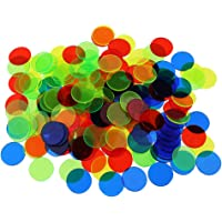 Phenovo 100 Pcs Plastic Poker Chips Bingo Board Games Markers Tokens Kids Counting Toy Family Club Party Supplies - mixed color, as described