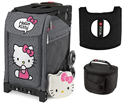 949757c0fe Image Unavailable. Image not available for. Color  Zuca Hello Kitty Leopard  Bag and Black Frame w. Lunchbox and Seat Cushion