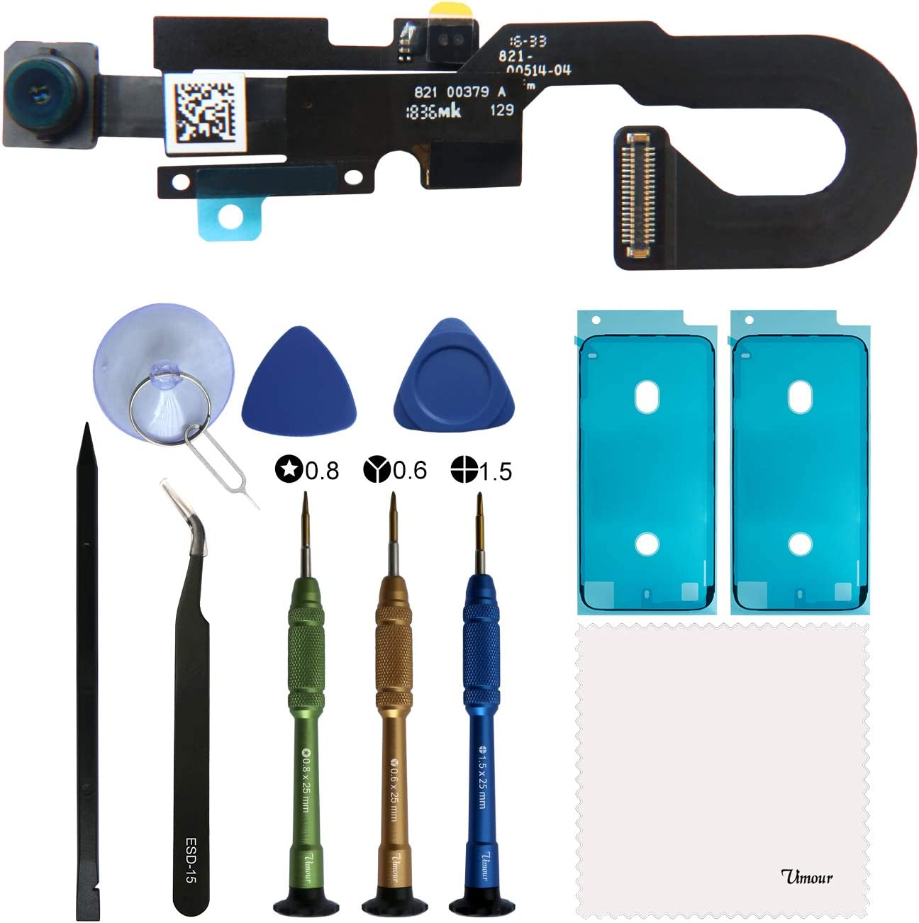 Vimour OEM Front Camera Replacement for iPhone 7 4.7 inch Model (A1660, A1778 and A1779),Microphone Replacement,Proximity Light Sensor Flex Cable Ribbon Assembly with Repair Tools