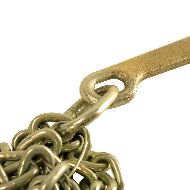 TYFYB 2 PCS Grade 70 Tie Down Binder Chain 5//16 Inch x 10 Feets Transport Tow Chain J Hook Long Shank w//R T J Grab Hook Yellow Zinc,3700 lbs Safe Working Load