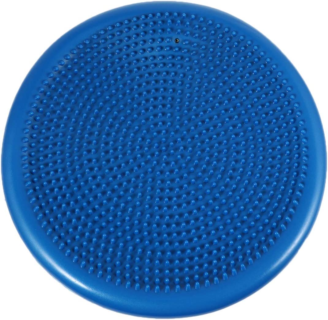 BESPORTBLE Inflated Stability Wobble Cushion Balance Disc Lumbar Support for Home Office Desk Chair Kids Alternative Classroom Sensory Wiggle Seat (Blue)