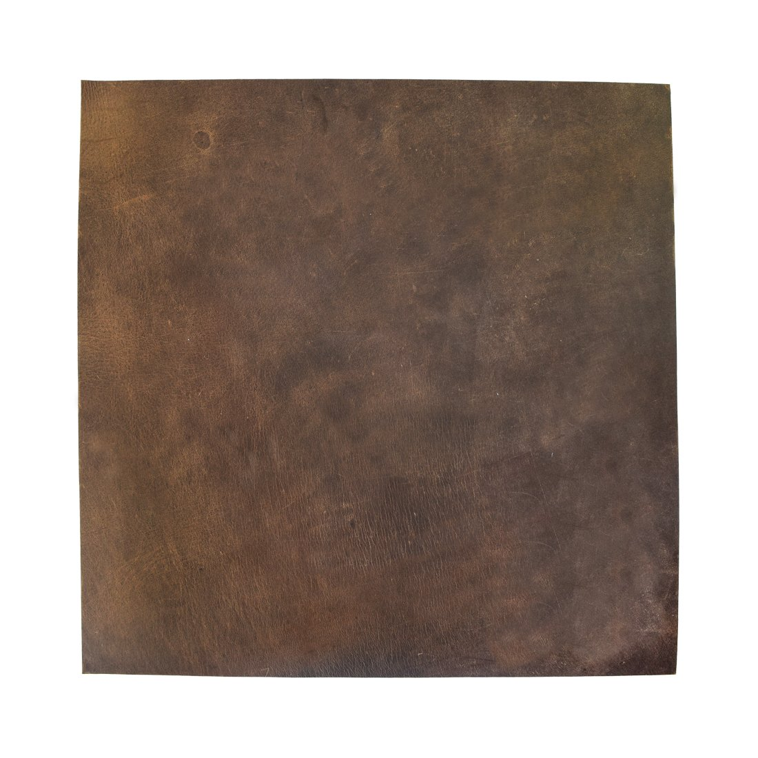 Thick Leather Square (12''x12'') for Crafts / Tooling / Hobby Workshop, Heavy Weight (5mm) by Hide & Drink :: Bourbon Brown