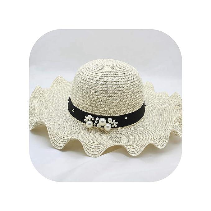 ec56187a Amazon.com: Fashion Parent-Child Cute Flower Sun Hats Girl Straw ...