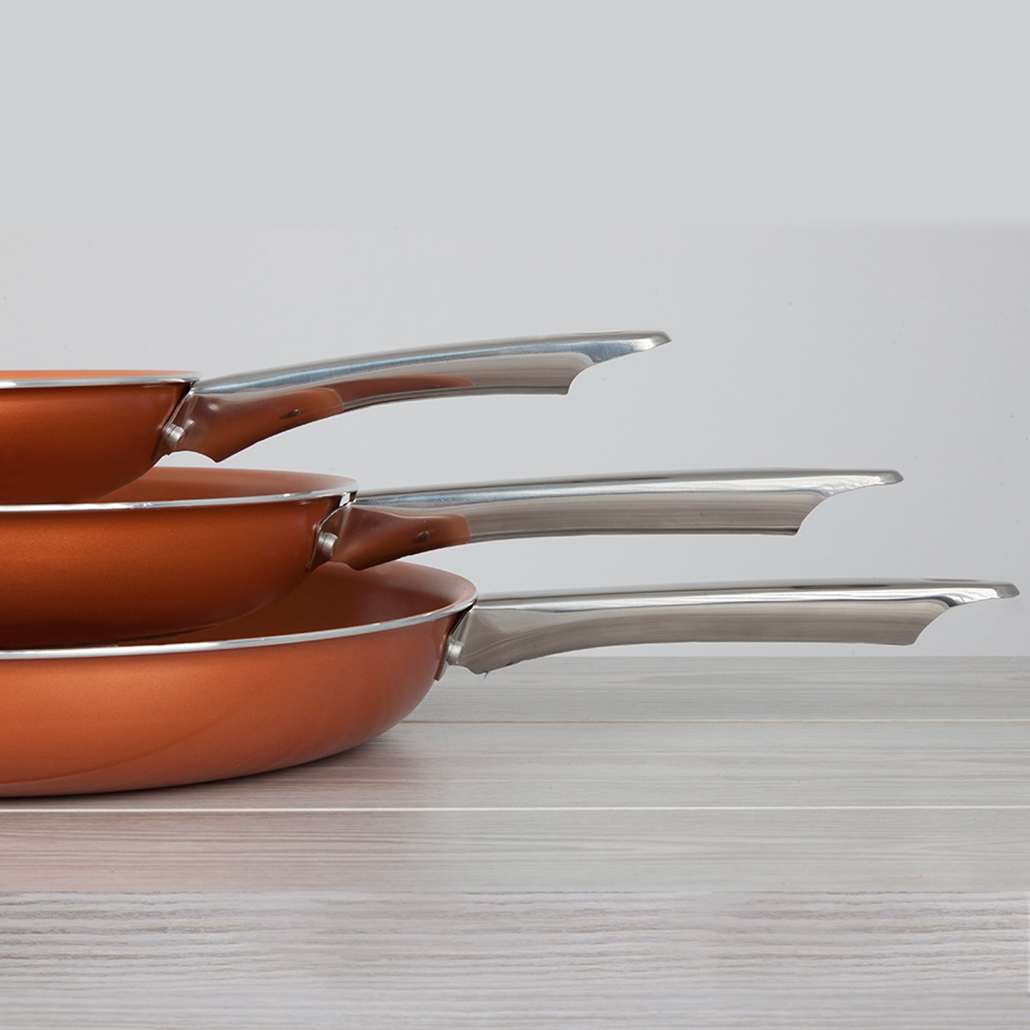 Ceramic Frying Pan Set With Lids