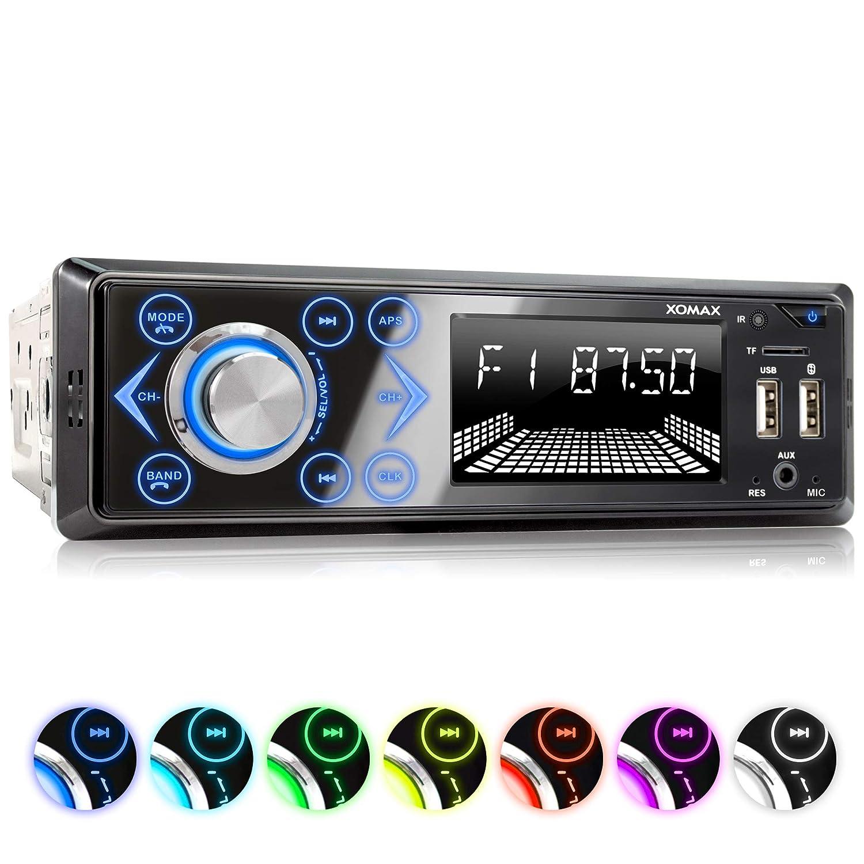 XOMAX XM-R272 Autoradio Radio de Coche con Bluetooth Manos Libres y m/úsica I FM I USB y SD I WMA WAV I AUX-IN I DIN 1 128 GB por Medio
