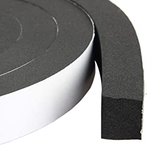 High Density Foam Tape Waterproof Sealing Strip CR Strips Neoprene Single-Sided Adhesive EVA Seal 1in X 3/4in X 13Ft