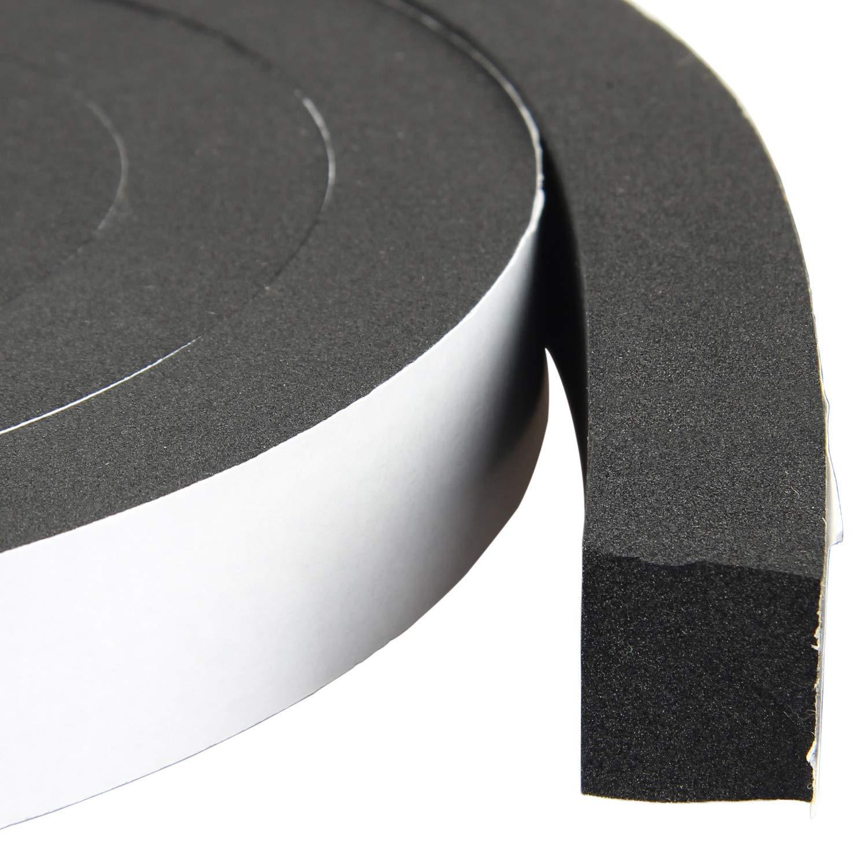 High Density Foam Tape Waterproof Sealing Strip CR Strips Neoprene Single-Sided Adhesive EVA Seal 1'' X 3/4'' X 13Ft by MXCELL