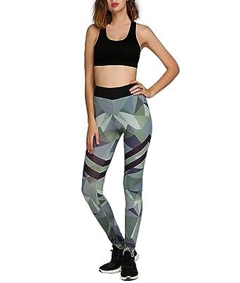 497bb6e6d5dc Befied Mode Damen schlank Camouflage Leggings für Yoga Pilates ...