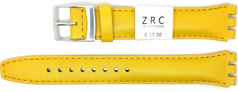 ZRC 17 mm ( 20 mm )サイズ本革ストラップスウォッチの腕時計に対応 – イエロー – zl6431709  B01N04X4NM