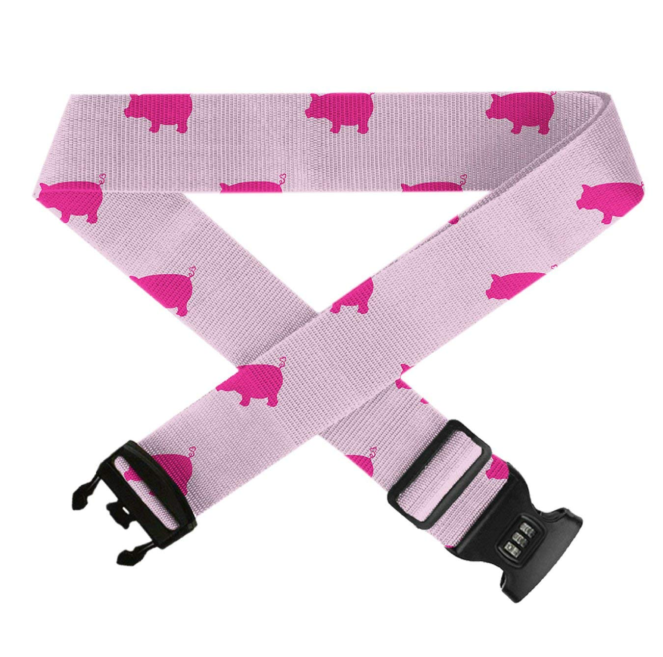 Heavy Duty Luggage Straps for Suitcase 20-32 Adjustable Travel Belt with TSA Lock 1 Pack GLORY ART Pink Pigs Pattern