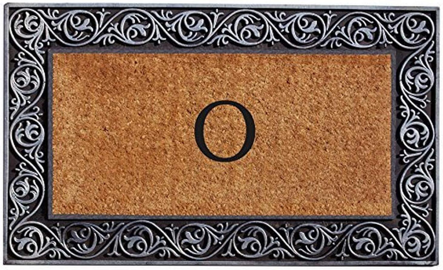 Home free More 10002SILVO Prestige Monogram Finally resale start Letter Doormat Silver