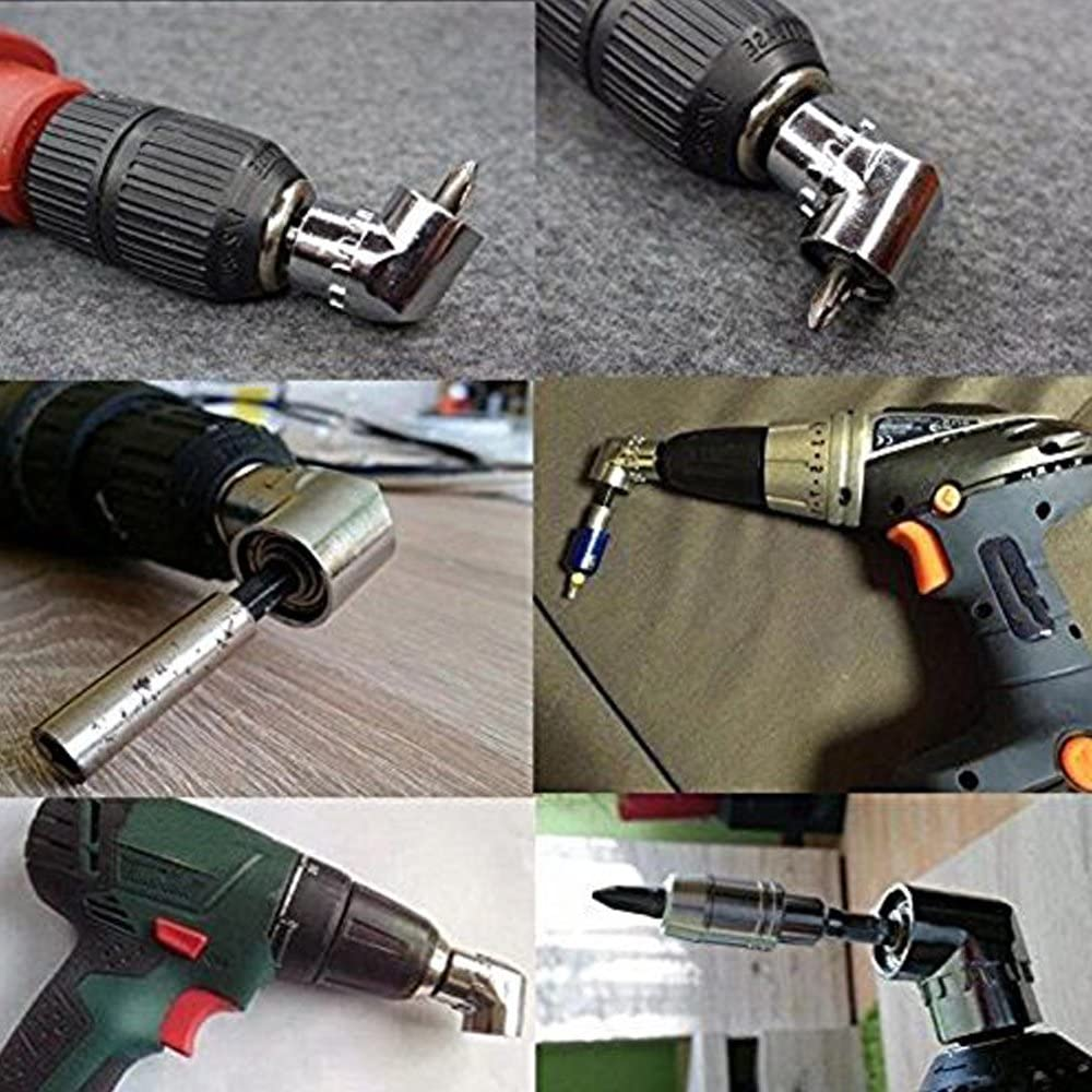 HIFROM Flexible Extentional Screwdriver Drill Bit Holder,8Pcs Socket Adapter Impact Hex Shank Drill Bits Bar Set 1//4 3//8 1//2 Bits with 1Pcs 105 Degree 1//4 Right Angle Drill Adapter Attachment