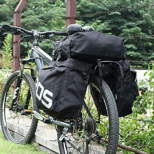 OVEA Bolsa De Transporte de Bicicleta Maletero Trasero 37L Equipaje de Bicicleta Asiento Trasero Pannier 2 Bolsas 3 de Sillín de Ciclismo Almacenamiento,B: Amazon.es: Hogar