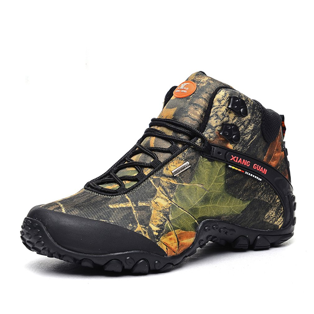 Xiang Guan Damen Camo Mesh Atmungsaktiv Outdoor Stiefel Frauen High-Top Lace-up Sport Trail Trekking Wanderschuhe