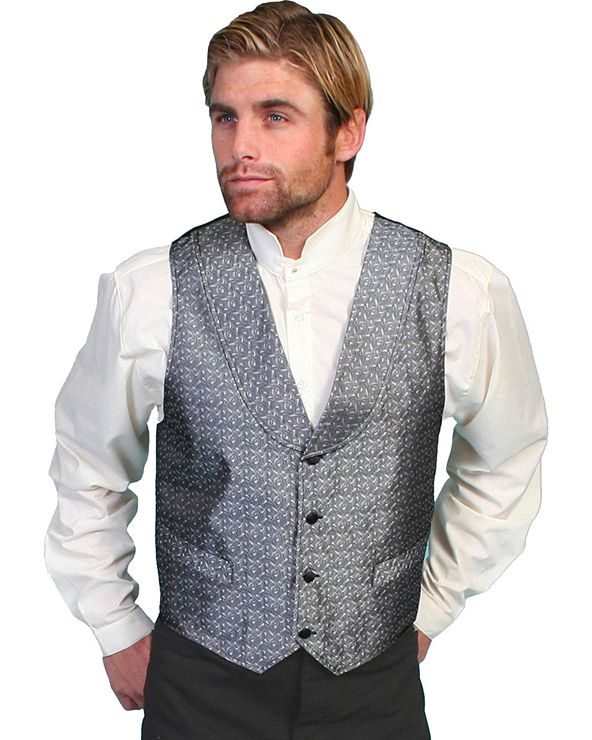 Steampunk Clothing- Men's Rangewear By Scully Mens Rangewear Silver Spring Vest Big And Tall - Rw166x Sil $55.05 AT vintagedancer.com