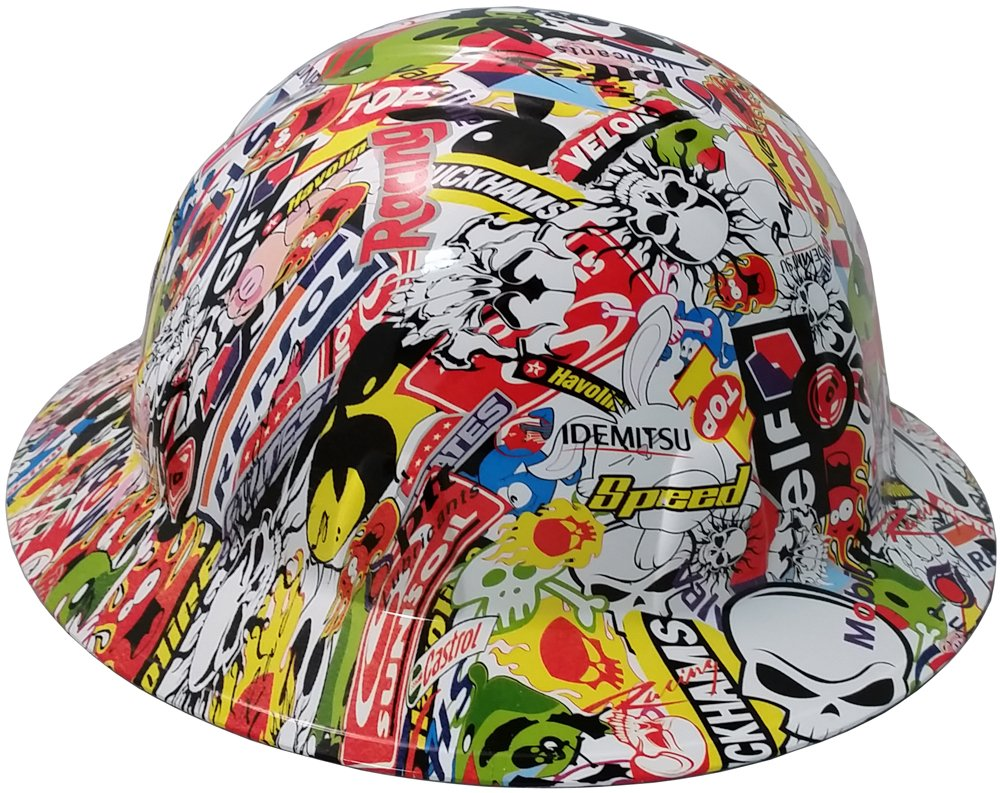 Texas America Safety Company Sticker Bomb Full Brim Style Hydro Dipped Hard Hat by Texas America Safety Company (Image #1)
