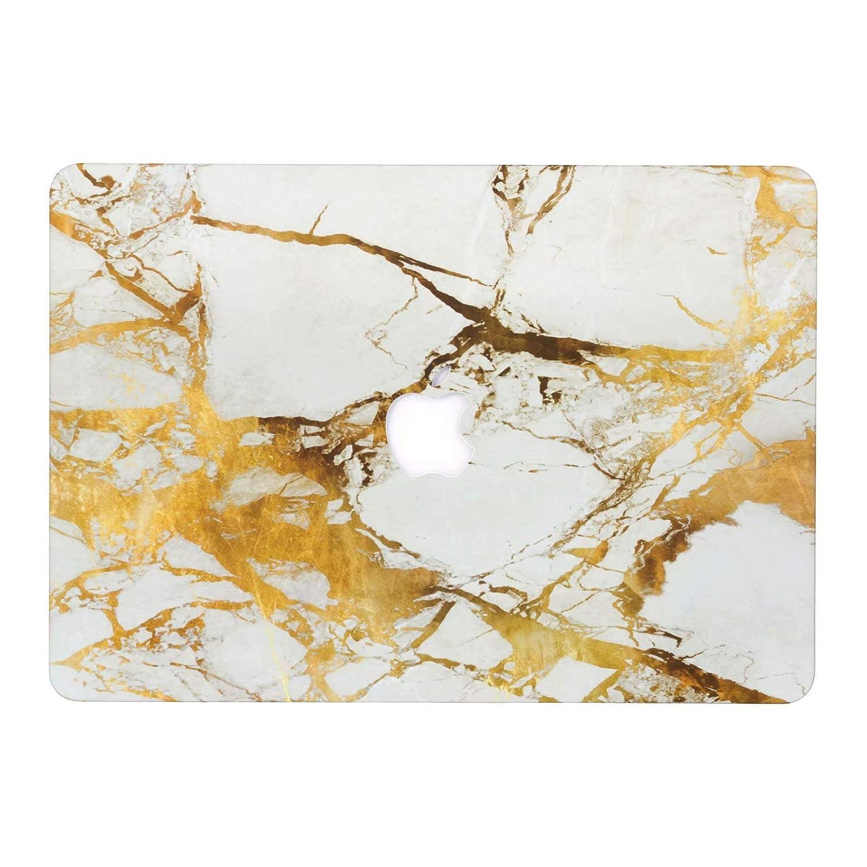 Model A1278 AQYLQ Matte Plastic Hard Shell Case Cover for MacBook Pro 13 with CD-ROM Non Retina MacBook Pro 13 inch Case DLBJ White /& Gold Marble