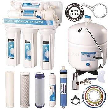 Purificador de agua potable sistema de ósmosis inversa de 5 etapas ...