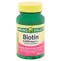Spring Valley - Biotin 5000 mcg, Super Potency, 120 Softgels