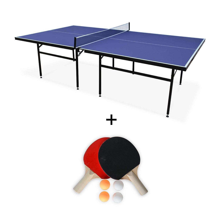 Alices Garden - Mesa de Ping Pong para Interior Azul Nagano, Mesa ...
