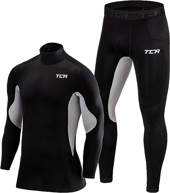 TCA Homme /& Gar/çon SuperThermal Short de Compression Collant Thermique pour Course