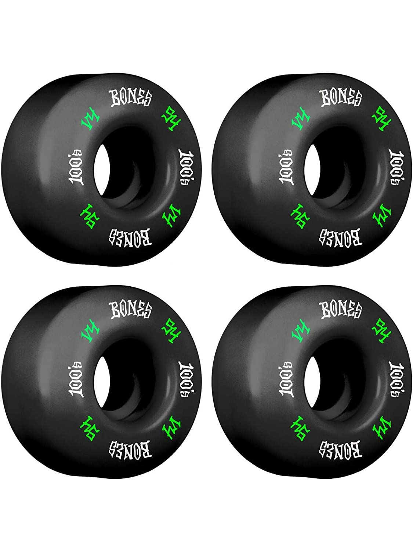 Bones 100's #12 V4 スケートボードホイール - ブラック - 54mm   B07J1YSVD7
