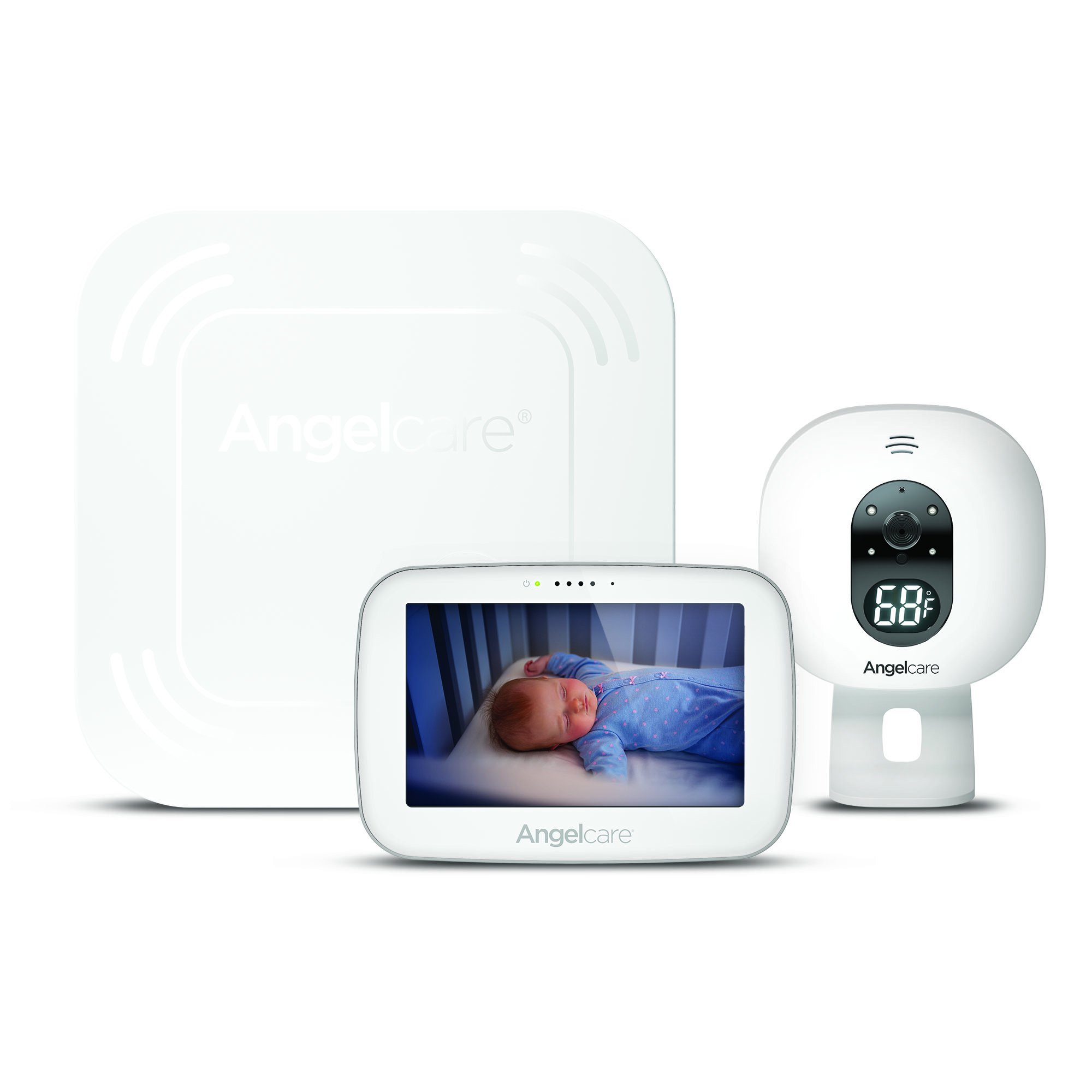 Angelcare Baby Monitor with Video and Breathing Sensor Pad (AC517) by Angelcare