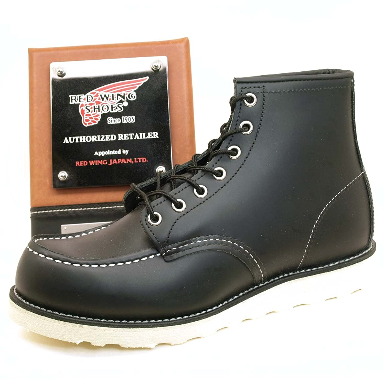REDWING レッドウィング ブーツ #8179 CLASSIC WORK BOOTS アイリッシュセッター クラシック ワークブーツ 6インチ モックトゥ BLACK CHROME(RED WING) B00BFUCDYA