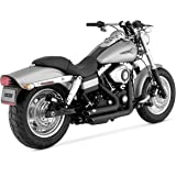 Vance & Hines Shortshots Staggered Exhaust Black 47217