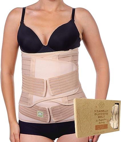 JZLPY 3 in 1 Postpartum Unterst/ützung atmungsaktiv elastische Einstellbare Postpartale postnatale Wiederaufnahme Unterst/ützung G/ürtel Bauch Recover Bauch Taille Beckengurt
