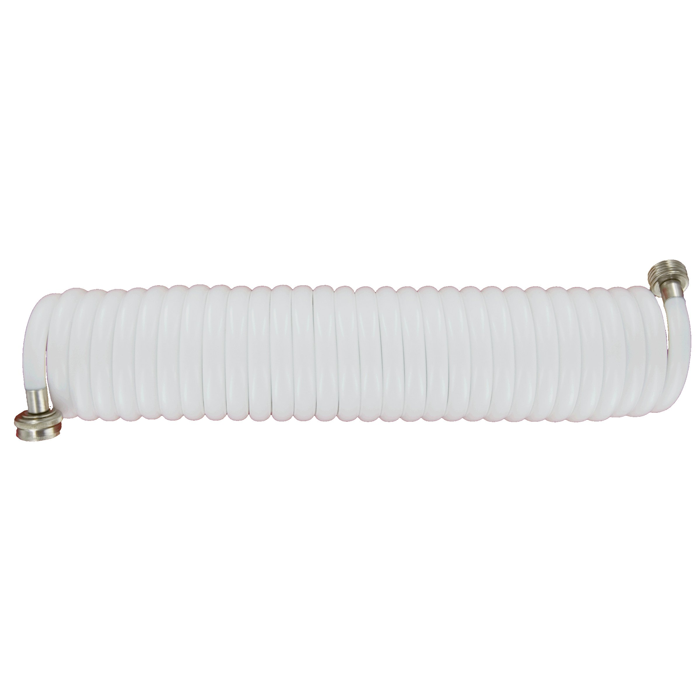Plastair SpringHose PUWE625B9-M-11S-AMZ Light EVA Lead Free Drinking Water Safe Marine/RV Recoil Hose, White, 3/8-Inch by 25-Foot by Plastair