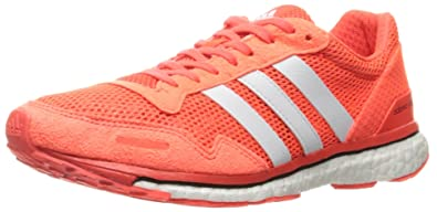 adidas Performance Women\u0027s Adizero Adios 3 W Running Shoe, Solar Red/White /Black