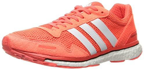 new product 4ac43 3c991 Image Unavailable. Image not available for. Colour adidas Performance Women  s Adizero Adios 3 W Running Shoe Solar RedWhiteBlack