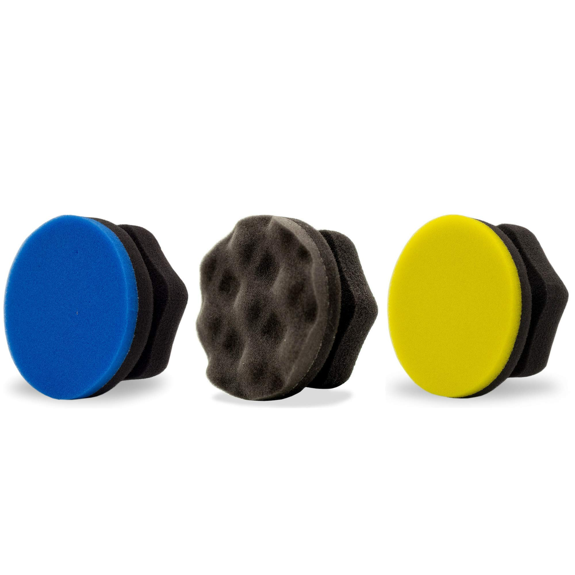 Adam's Hex Grip Applicator Combo - A Collection of All Our Hex Grip Car Detailing Applicators for Tire, Wax, Polishing, Scratch Removal